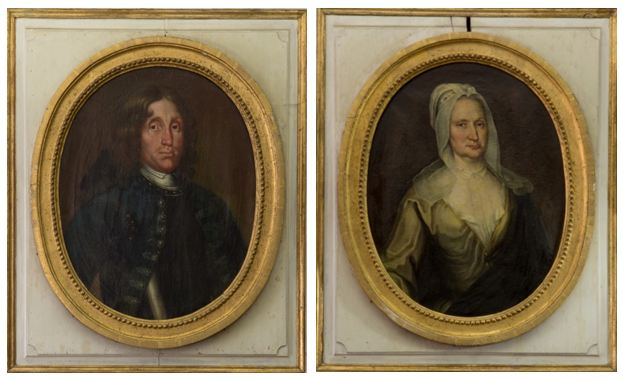 Lars Persson Hierta (1648-1711) och hans andra maka Maria Christina Hierta, född Bonde (1670-1736).