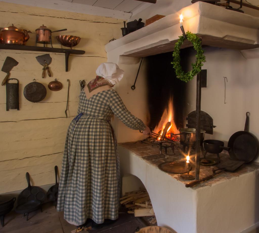 Köket i Boktryckarbostaden. Foto: Tomas Wiedersheim-Paul