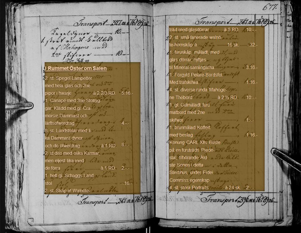Del av bouppteckningen efter Maria Tottie från 1791. Källa: Justitiekollegium 1637-1856, Förmyndarkammaren 1667-1924, Rådhusrättens 1:a avdelning 1850-1924, Bouppteckningar, SE/SSA/0145A/F 1/F 1 A/304 (1791)