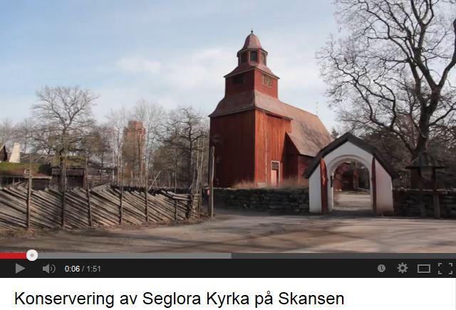 Se hur Larsson Örnmark Målerifirma AB arbetar med konserveringsuppdraget i Seglora kyrka. Foto och klippning: Tomas Wiedersheim-Paul 2014