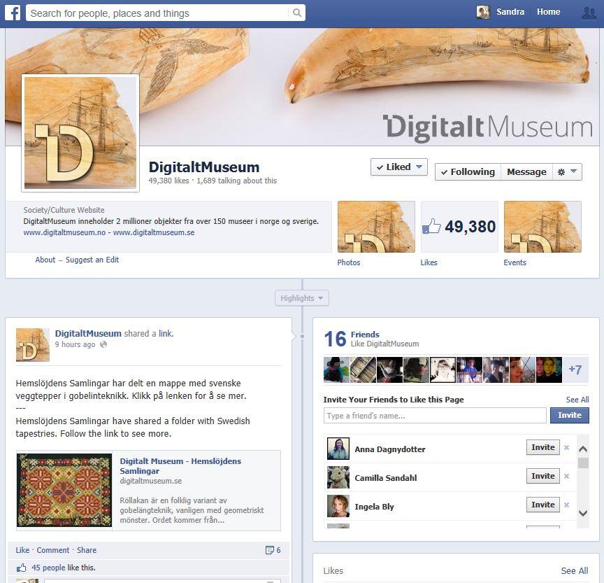 Klicka direkt på bilden för att komma till DigitaltMuseums facebooksida.