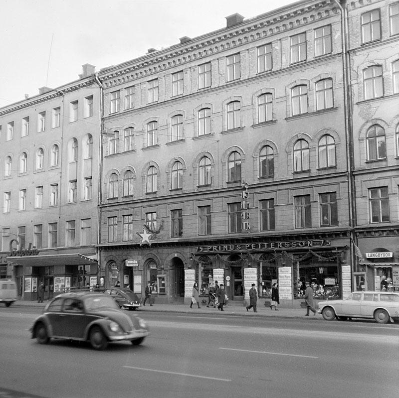 Så här såg det ut på Götgatan 57, Stockholm. Stockholmskällan, cc-by-nc-sa. Foto: Lennart af Petersens, 1968