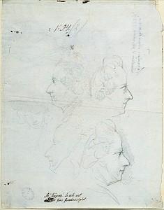 Gustav III, av Johan Tobias Sergel, blyerts på papper, utförd i Rom. Inventarienummer NMH 515/1875 i Nationalmuseums samlingar.